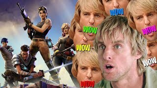 Fortnite Battle Royale But every shot fired is Owen Wilson saying wow