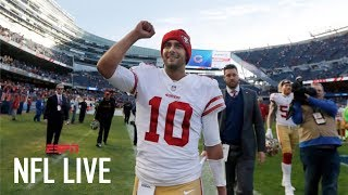 Will Jimmy Garoppolo get another win for the San Francisco 49ers this week?   NFL Live   ESPN