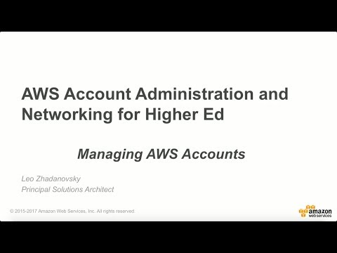 Managing AWS Accounts for Education
