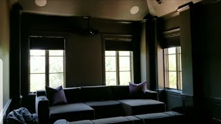 Epic Wireless Lutron Caseta Smart Shades in this Home Theater