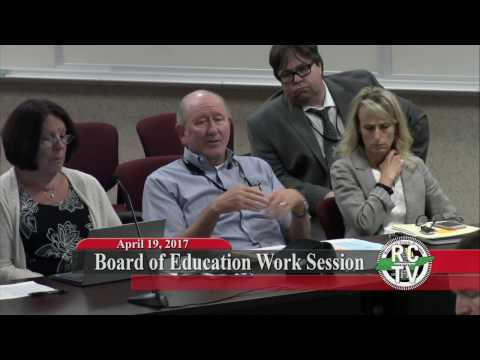 Board of Education Work Session - April 19, 2017