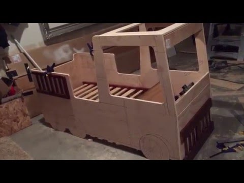 MAKE YOUR OWN Firetruck Toddler Bed - YouTube