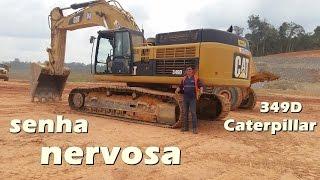 carregamento de caminhões 4 eixo com  escavadeira hidráulica 349 da Caterpillar  operador Emerson Na