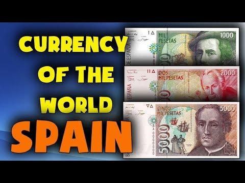 Currency Of Spain.PRE-EURO. Spanish Peseta.Spain Currency