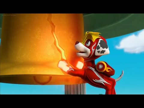 Paw Patrol Clip: Mighty Pups Super Paws || Marshall & Rocky Fix The Bell ||