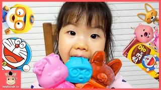 뽀로로 아이스바 아이스크림 만들기 장난감 놀이 ♡ 뽀로로 루피 에디 초코에몽 딸기 어린이 먹방 Pororo ice cream maker | 말이야와아이들 MariAndKids
