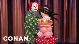 Butterscotch The Clown & His Balloon Wife Return To Defend Clowns  - CONAN on TBS