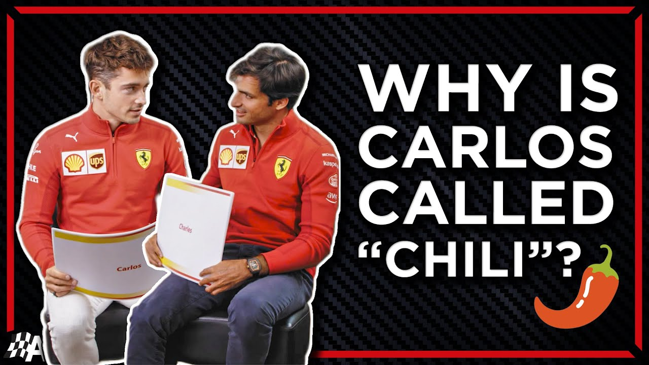 Download Charles Leclerc & Carlos Sainz Answer Hilarious F1 Fan Assumptions