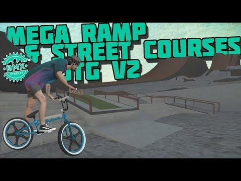 BMX Streets PIPE - Mega Ramp & Street Courses! - JTG V2