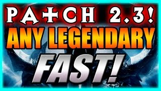 Diablo 3 - How to Get ANY LEGENDARY, FAST!! Patch 2.3 Reaper of Souls Kanai Cube