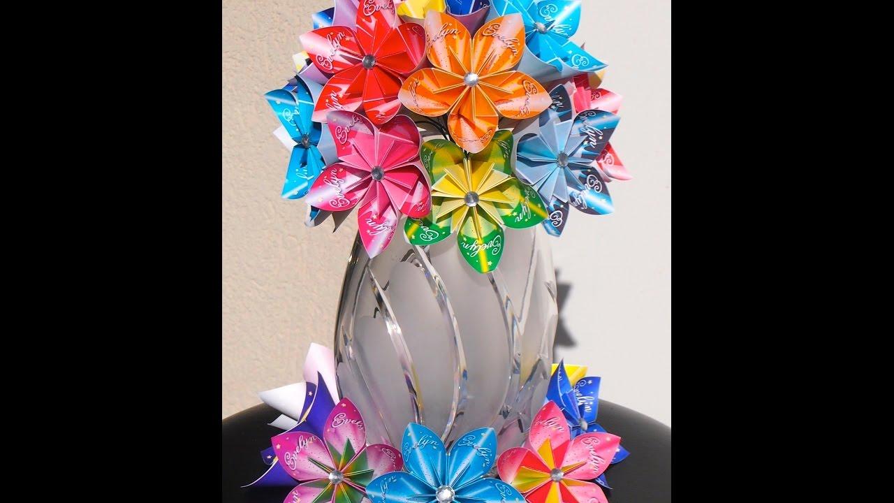 Personalized Kusudama Flower - *Bouquet* - YouTube