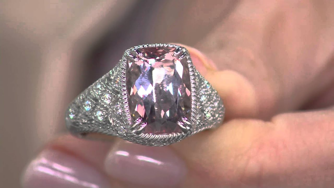 Judith Ripka Sterling 500 Ct Morganite Estate Ring On Qvc