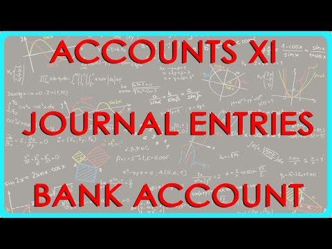 524.CBSE Accounts XI, ICSE Accounts XI  - Journal entries - Bank Account