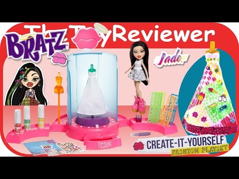 Bratz Doll And Create-It-Yourself Fashion Playset Unboxing Toy Review By TheToyReviewer