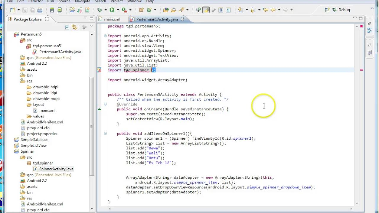 eclipse android tutorial spinner youtube rh youtube com manual java android pdf manual de java para android pdf