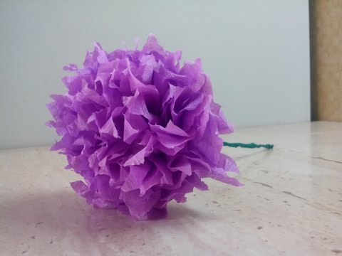 Смотреть DIY Цветок из гофрированной бумаги.Flower corrugated paper.Tsvetok iz gofrirovannaya bumaga