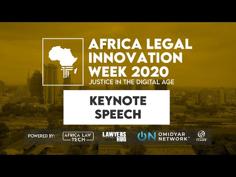 Africa Legal Innovation Week 2020 Keynote Speech: Jane Franc
