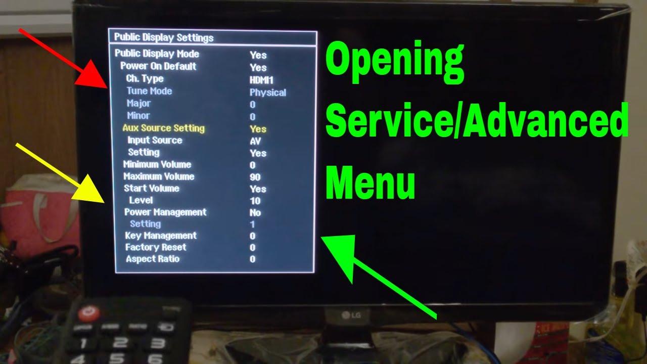 LG 24LF452B-PU TV Opening Service menu  Advanced menu