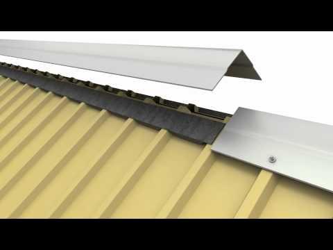 Flex-O-Vent Metal Roofing Ridge Vent