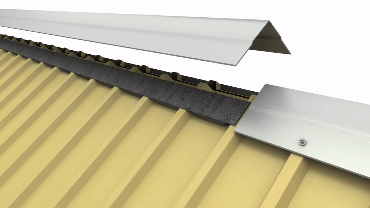 flex o vent metal roofing ridge vent youtube