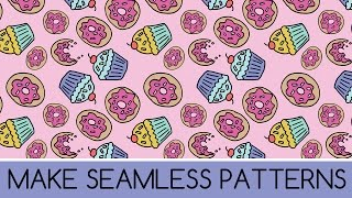 How to Make a Repeating Pattern for Spoonflower in Photoshop from a Drawing
