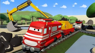 Troy el Tren es el tren recoge basura ! en la Cuidad de Trenes | Dibujos animados para niñas y niños