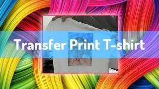 Make a heat transfer print t-shirt from scratch - software design, printing & heat press tutorial
