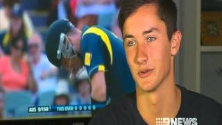 Worlds greatest Crowd Cricket Catch, Channel 9 Adelaide News interviews Peter Spurling