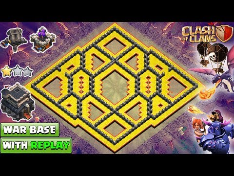New Best TH9 War Base 2018 with REPLAY | TH9 Base Anti LAVALOON 2018 | Clash of Clans 2018