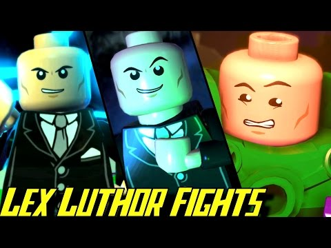 Evolution of Lex Luthor Battles in LEGO Batman Games (2008-2017)