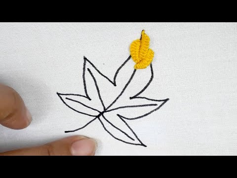 Hand Embroidery: Brazilian Embroidery Leaf Design