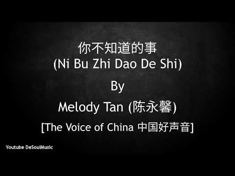 你不知道的事 - Ni Bu Zhi Dao De Shi [All The Things You Never Knew] - Melody Tan (陈永馨) - Lyric
