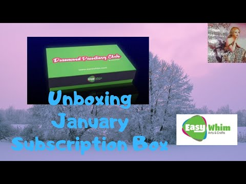 Unboxing My Easy Whim January Diamond Painting Club Box