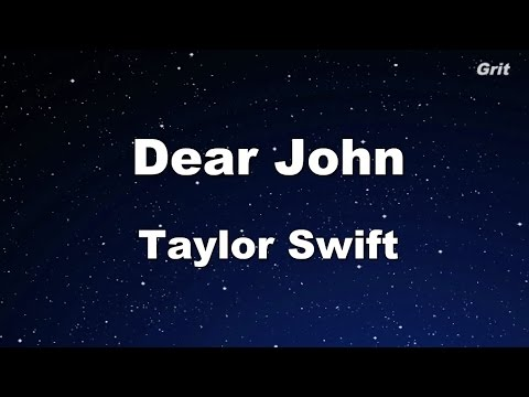 Dear John - Taylor Swift Karaoke【No Guide Melody】