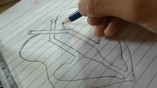 Easiest way to draw an human heart diagram  in exam