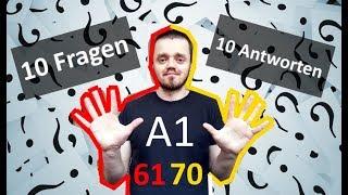 Разговорный немецкий язык, урок 7 (61-70). 10 вопросов - 10 ответов