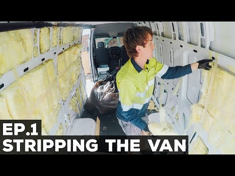 Ep.1 Sprinter Van Conversion | Stripping the Van