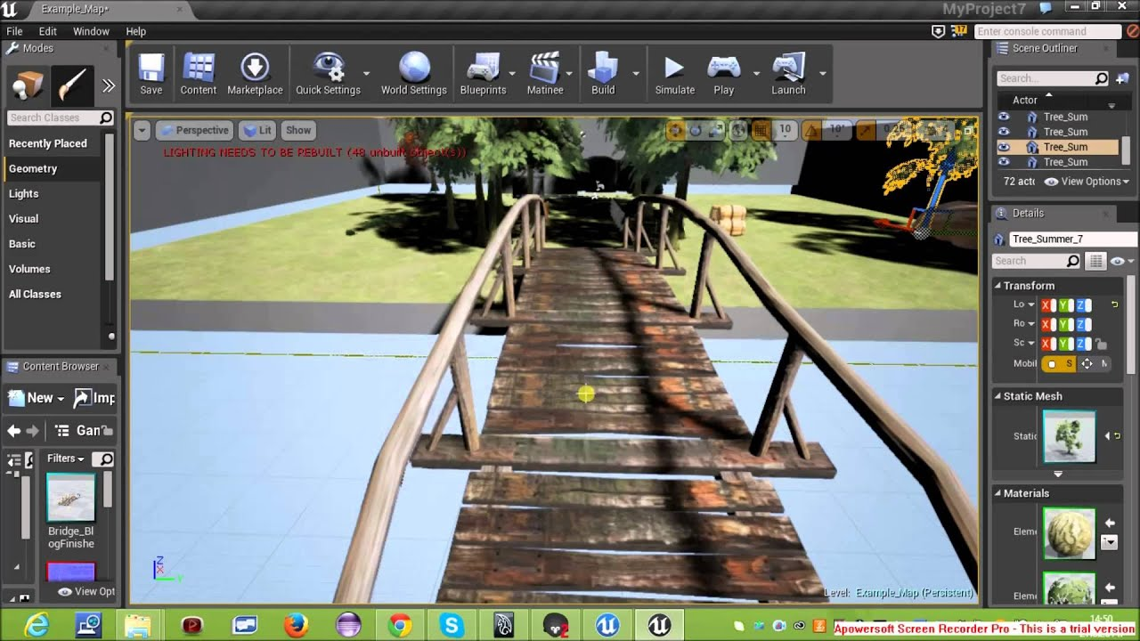 Free Assets for Unreal engine 4 Wooden Bridge