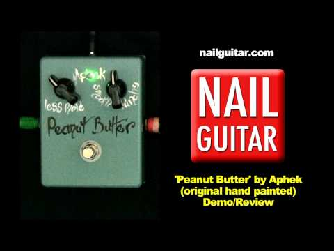 Guitar Pedal Demo 'Peanut Butter' Overdrive - Aphek (original hand painted)