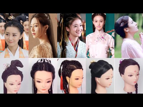 Chinese traditional hairstyles tutorial from Chinese drama look so beautiful 😍 thumbnail