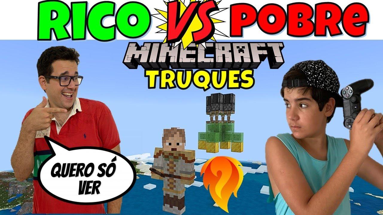 RICO vs POBRE MINECRAFT TESTANDO TRUQUES DO TIK TOK 3 | PEDRO MAIA