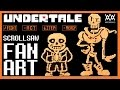 UNDERTALE. Scroll Saw Art. SANS & PAPYRUS