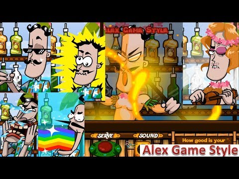 Bartender The Right Mix Y8 - 9 Out Of 10 Game Endings In Order (Crazy Flash Game)