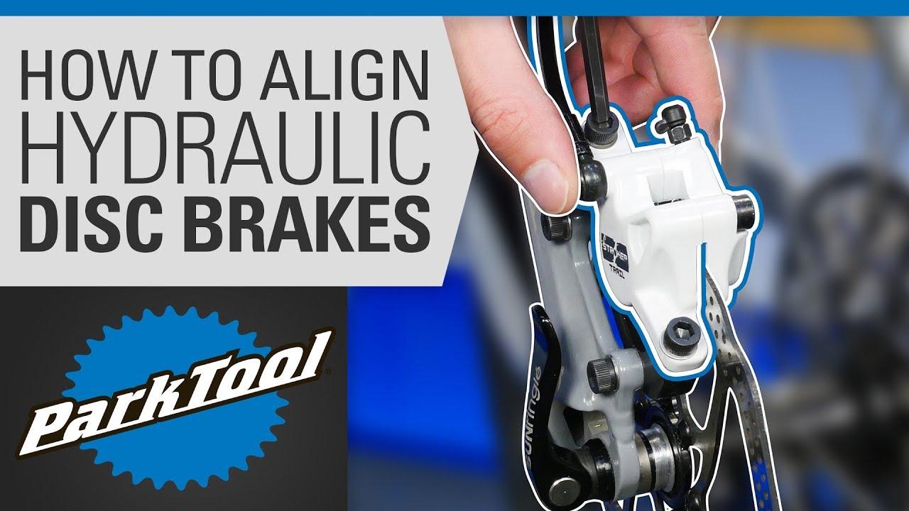63ada1a5cf3 How to Align a Hydraulic Disc Brake on a Bike. Park Tool