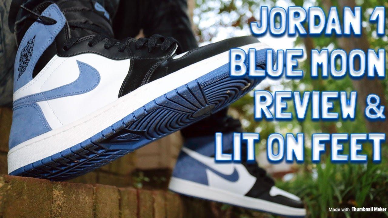 640dd0d276fb AIR JORDAN 1 BLUE MOON REVIEW   LIT ON FEET!! BEST HAND IN THE GAME ...