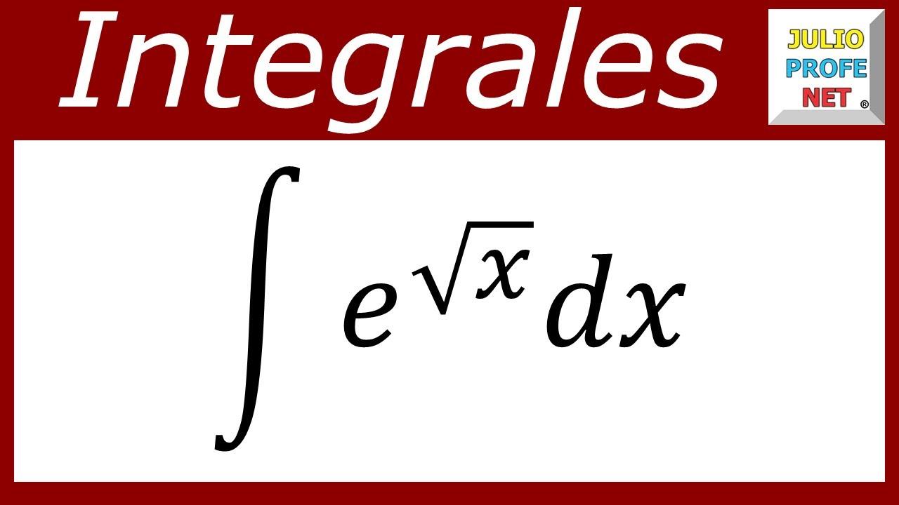 INTEGRACIÓN POR SUSTITUCIÓN Y PARTES - Ejercicio 2