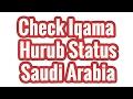 Check Iqama Hurub Status Online - Saudi Arabia