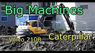 Caterpillar 324D Excavator vs Volvo 210B Excavator Big Machines at work