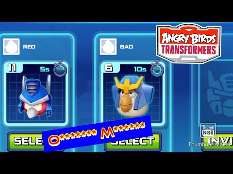 Angry Birds Transformers: Red As O******* M******