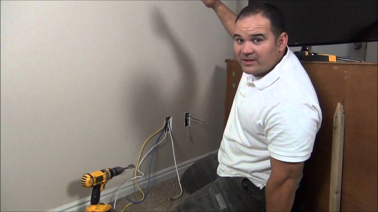 How To Move An Electrical Outlet Behind The Tv Mounting A House Wiring Diagram Ireland Wall Part 2 Youtube